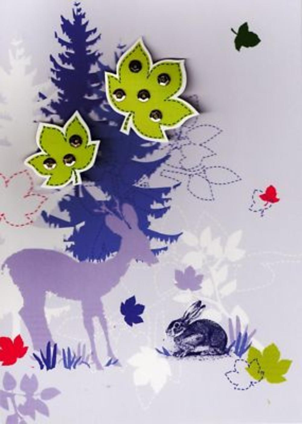 Luxury New 3D Handcrafted Birthday Cards Woodland Card