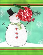 Christmas Snowman Medium Gift Bag