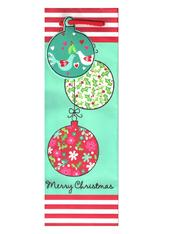 Christmas Baubles Bottle Gift Bag