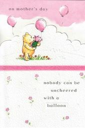 Winnie The Pooh Bear Mother's Day Card Balloon