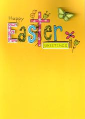 Happy Easter Greetings Hand-Finished Card