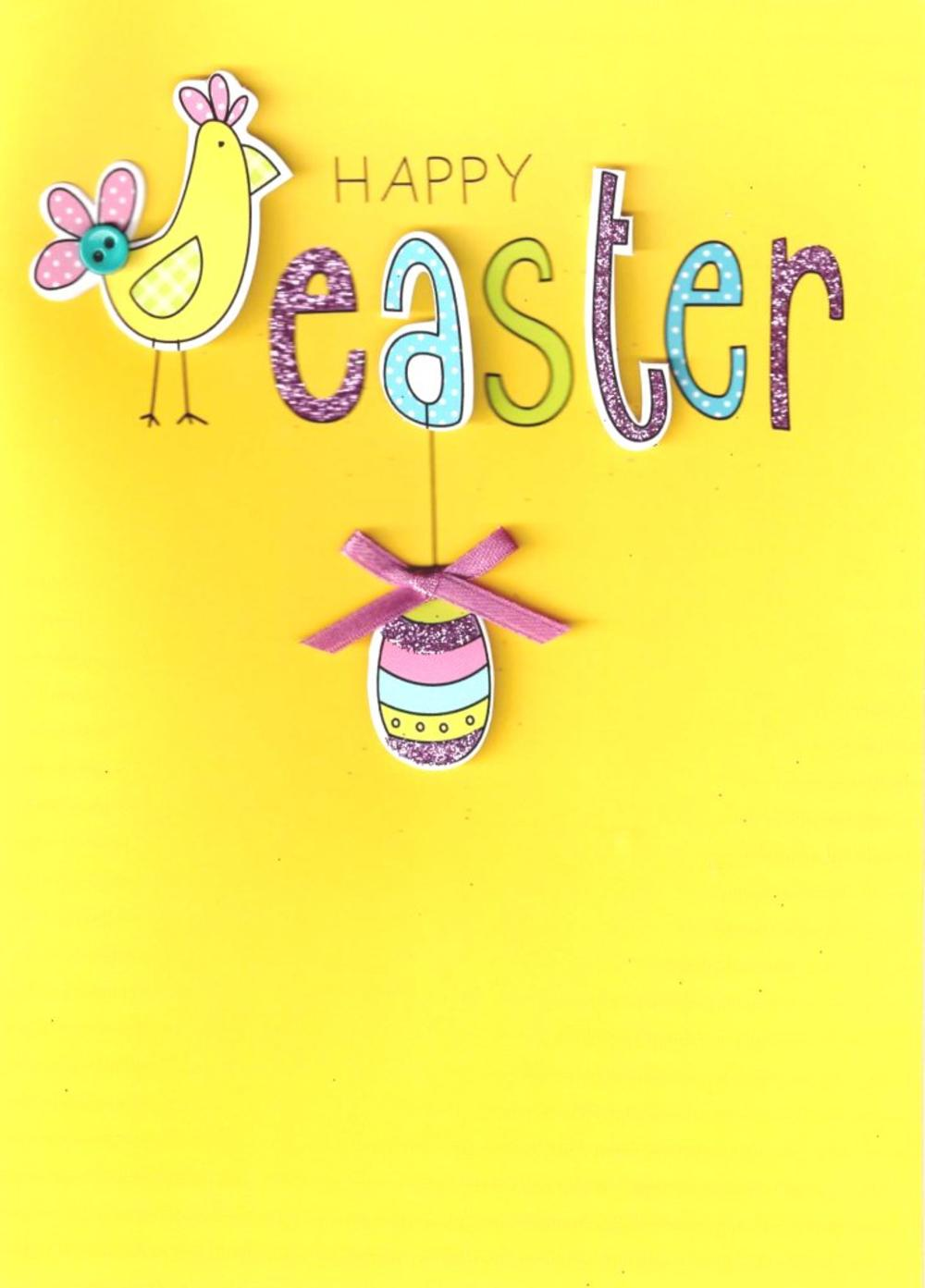 Happy Easter Hand-Finished Greeting Card