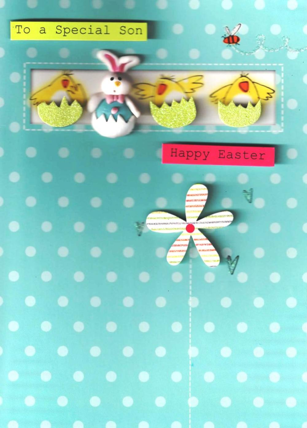 Special Son Easter Hand-Finished Card