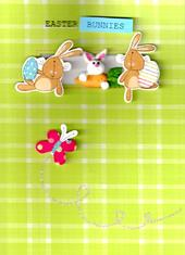 Easter Bunnies Hand-Finished Greeting Card