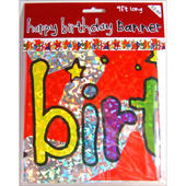 Happy Birthday Foil Party Banner