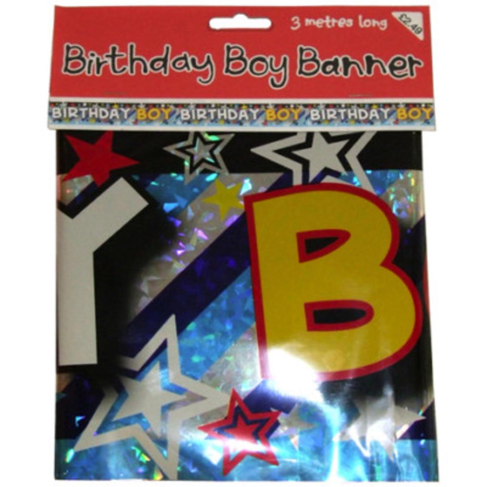 Birthday Boy Foil Party Banner
