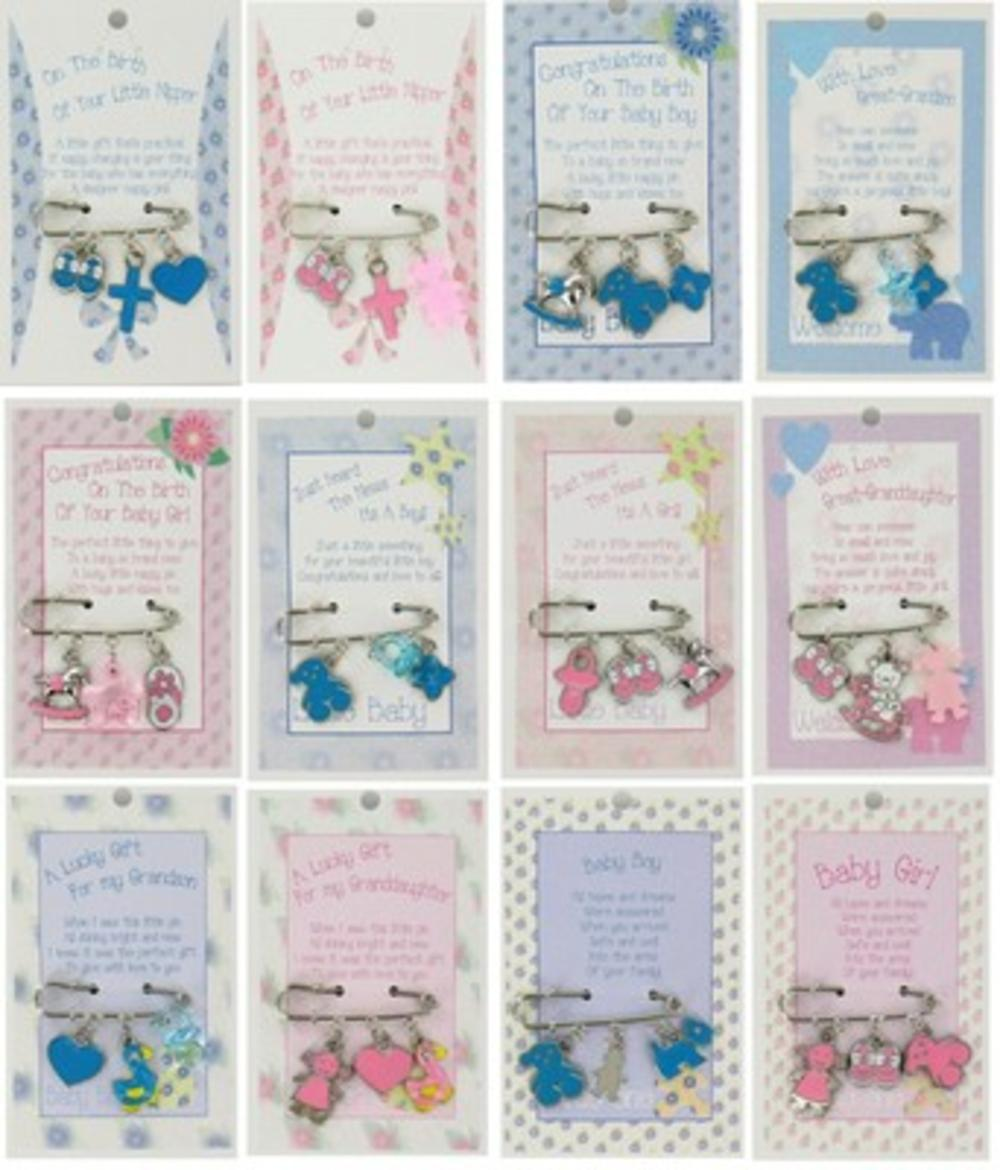 New Baby Nappy Pin Charms Special Sentimental Gift