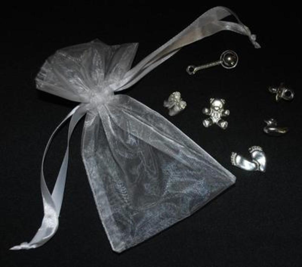 New Baby Gift Keepsake Bag 6 Piece Charm Set