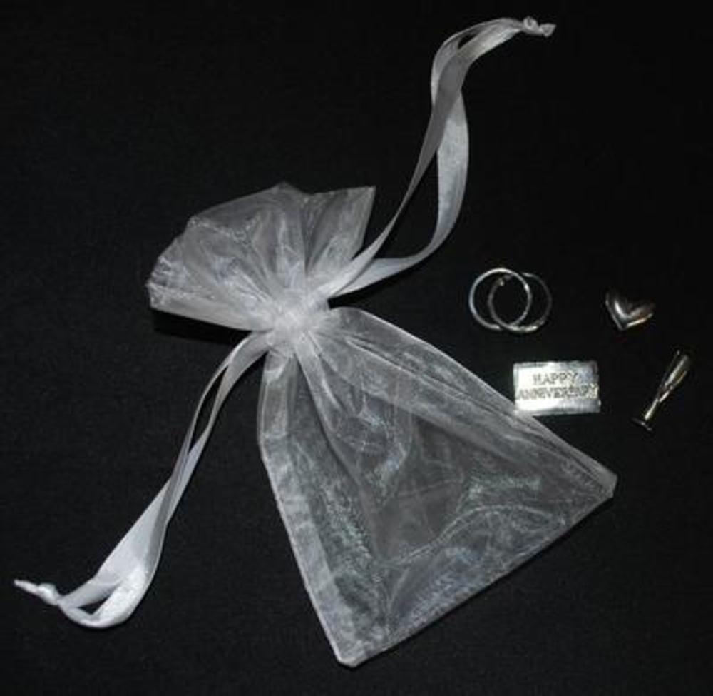 Wedding Anniversary Gift Keepsake Bag 4 Piece Charm Set