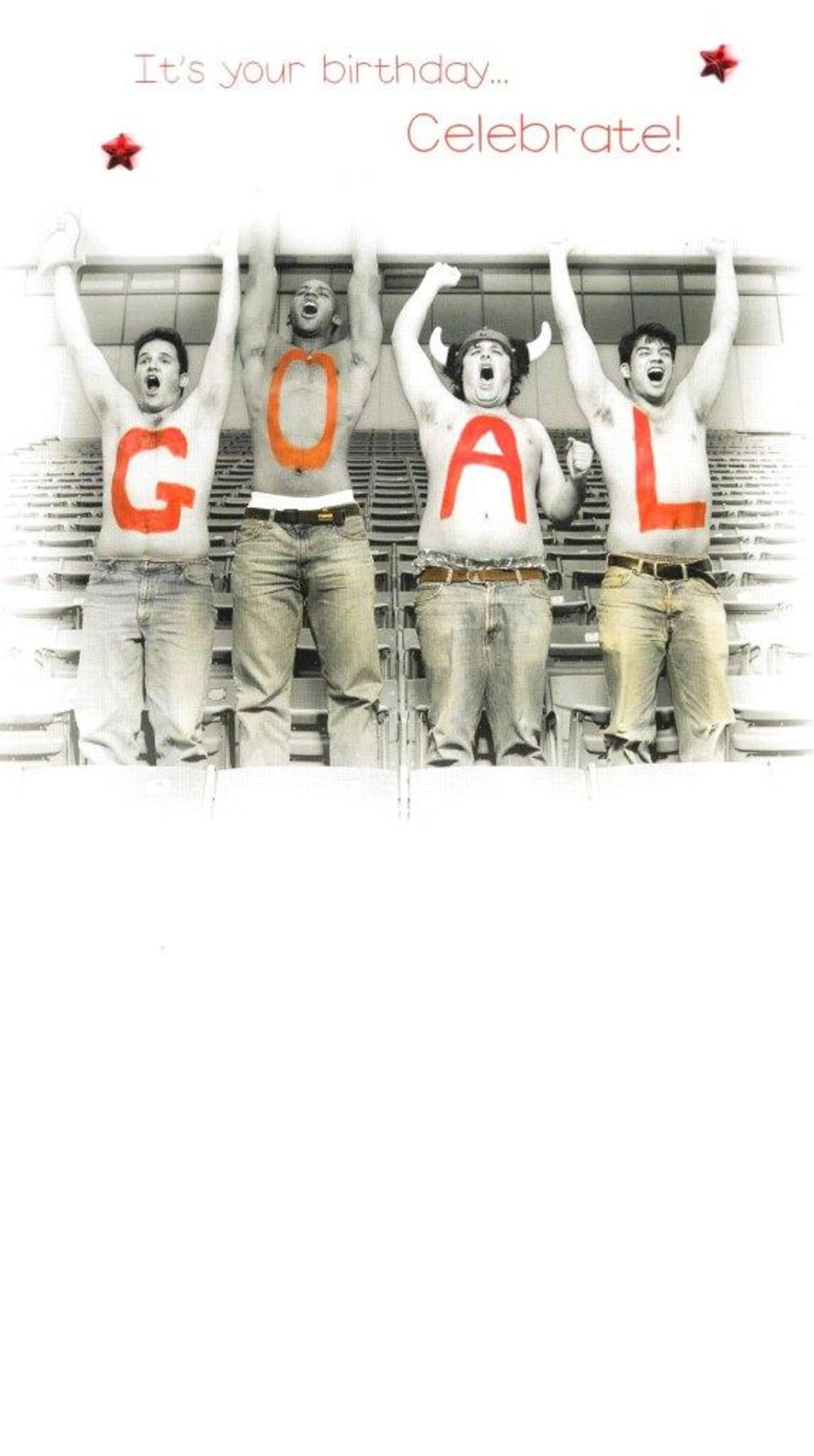 Goal Gorgeous Photo Finished Birthday Card