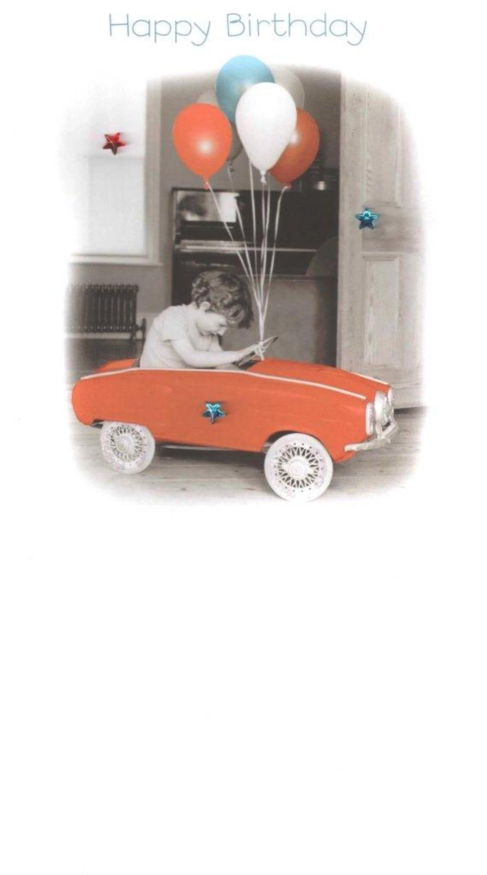 Toy Car Gorgeous Photo Finished Birthday Card