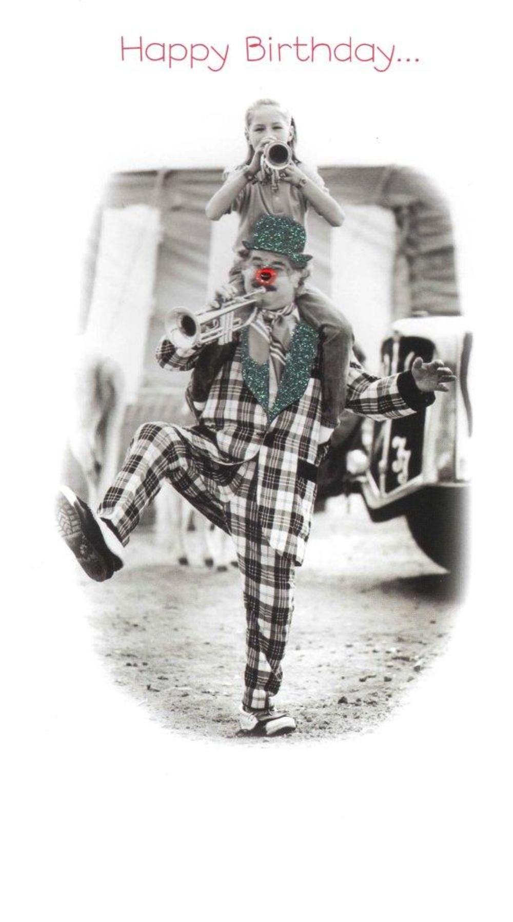 Gorgeous Photo Finished Clown Birthday Card