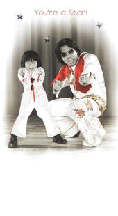Gorgeous Photo Finished Elvis Birthday Card