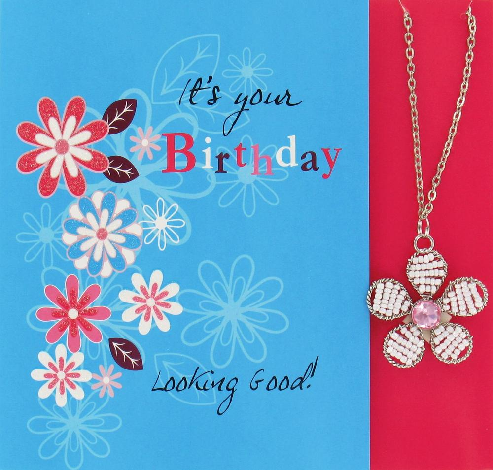 It's Your Birthday Greeting Card With Necklace