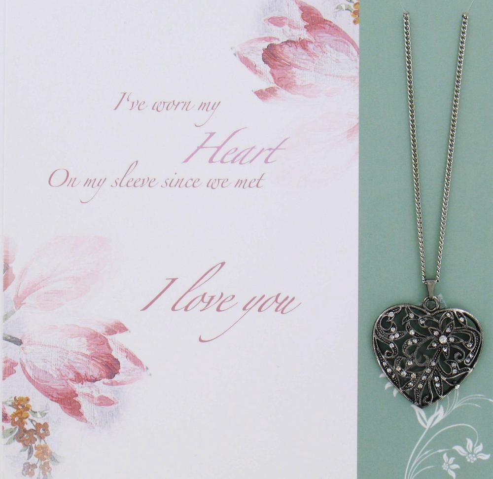 To My Wife Greeting Card With Necklace