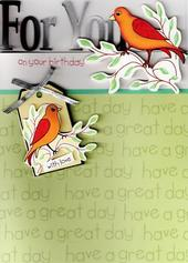 Luxury New 3D Handcrafted Birthday Cards Birds Card