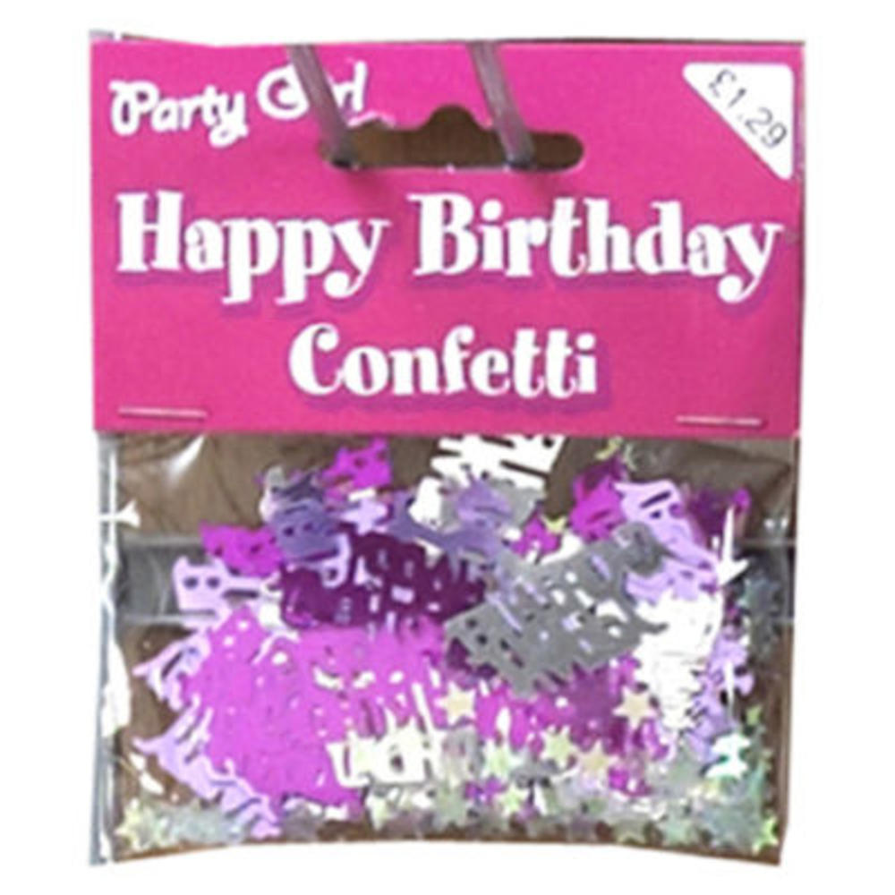 Pack Pink Party Girl Confetti Sprinkles Happy Birthday