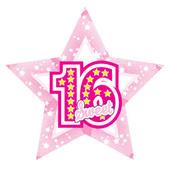 "Big 24"" Foil Star Helium Balloon Birthday Sweet 16 16th"