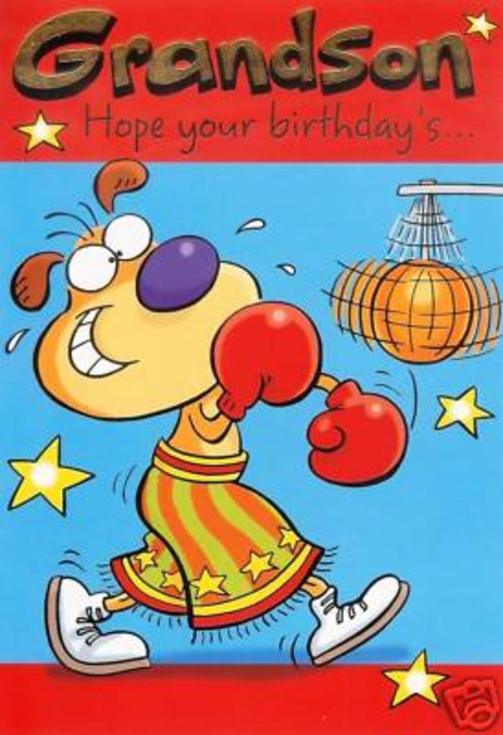 Grandson Hope Its a Knock Out Birthday Card Cards – Birthday Cards Grandson