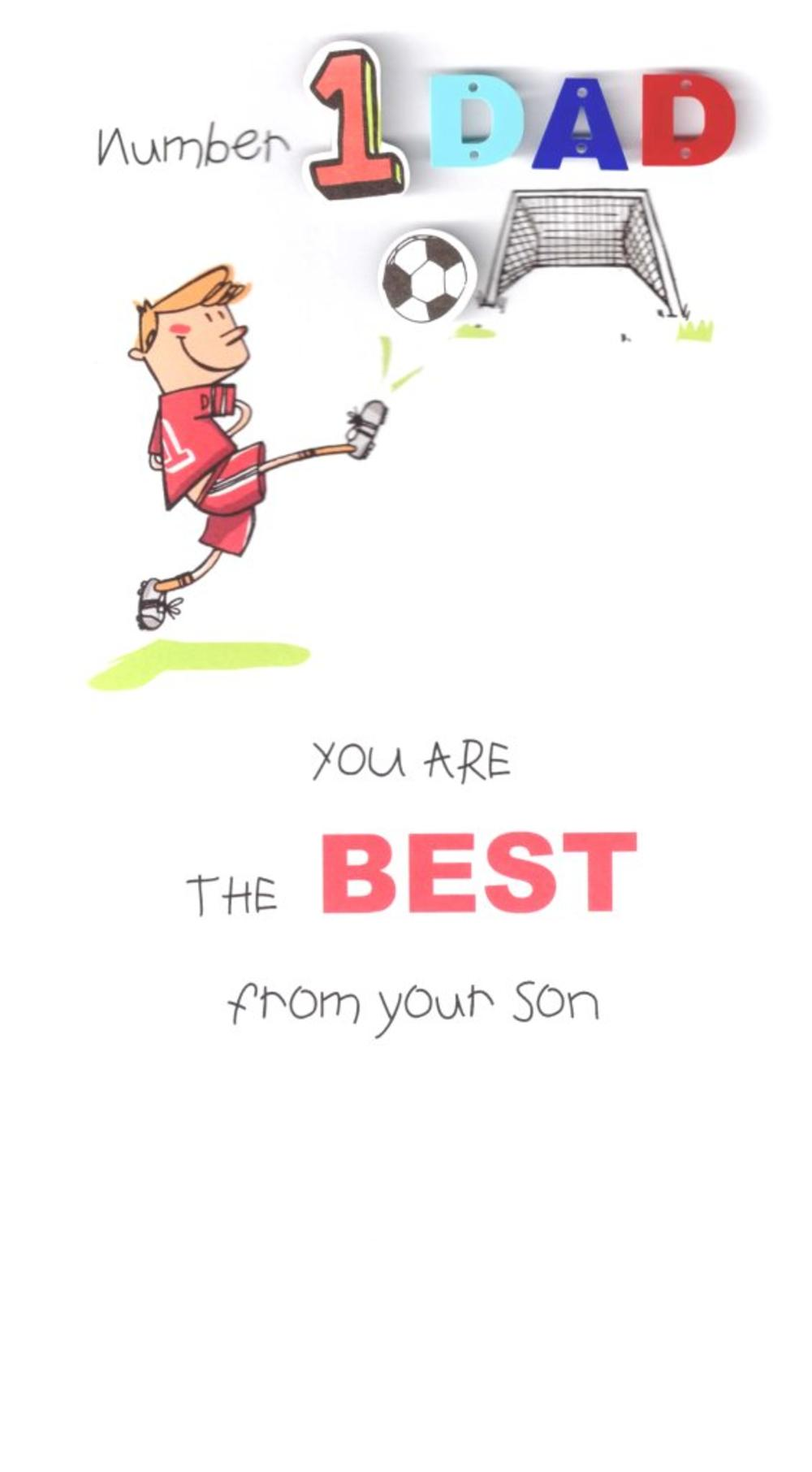 To Number 1 Dad From Son Father's Day Card