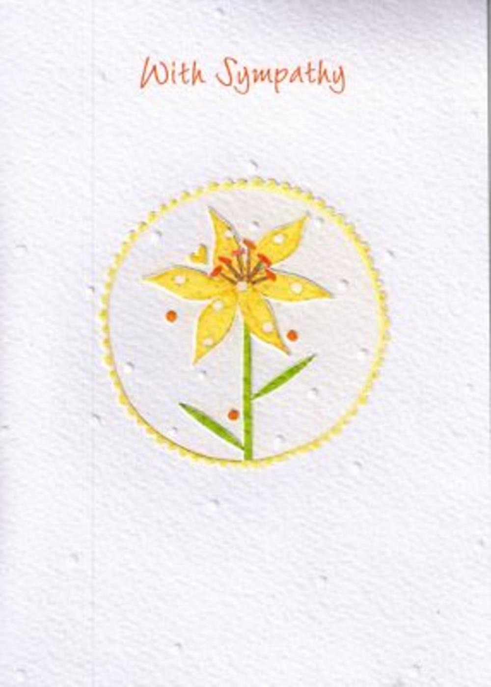 Glittered Simple Sympathy Greeting Card