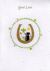 Glittered Good Luck Greeting Card