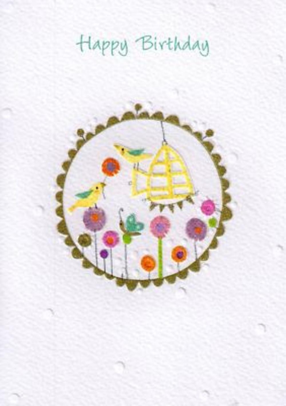 Glittered Female Happy Birthday Card