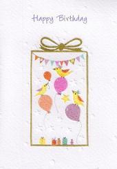 Glittered Female Happy Birthday Card