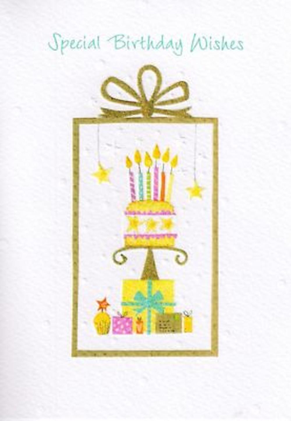 Glittered Female Cake Birthday Card