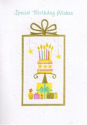 Glittered Female Cake Birthday Card
