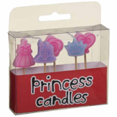 Princess Birthday Party Cake Cocktail Stick Candles Set