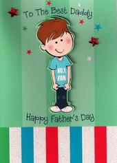 To Best Daddy Ever from Son Father's Day Card