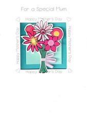 Quality Hand-Finished 3D Flowers Mother's Day Card