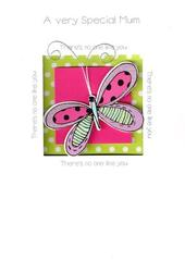 Quality Hand-Finished 3D Butterfly Mother's Day Card
