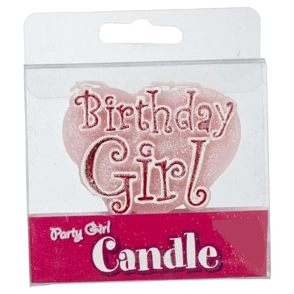 Pink Birthday Girl Party Candle Cake Candles Girls