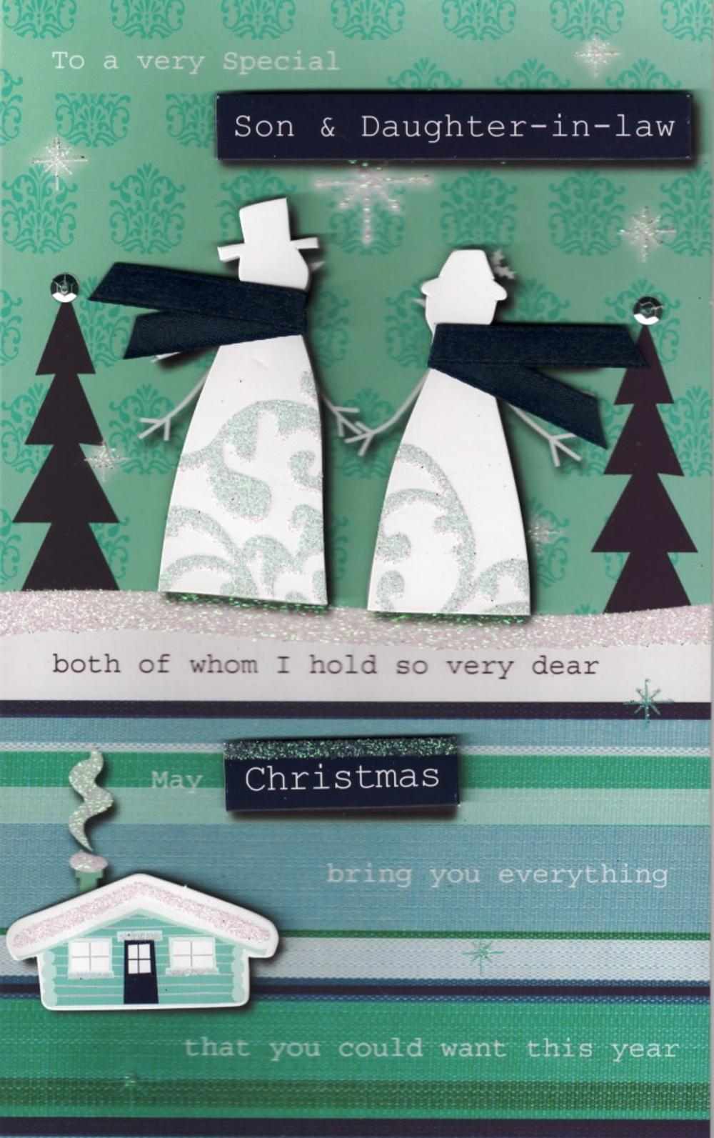 Son & Daughter-In-Law Christmas Card