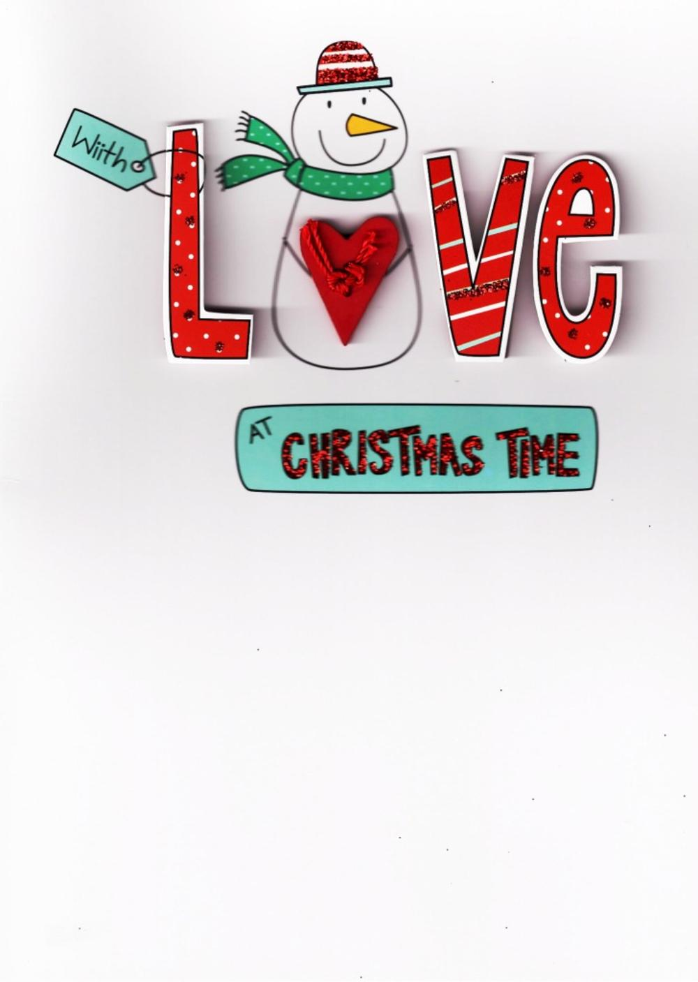 Love Embellished Christmas Greeting Card