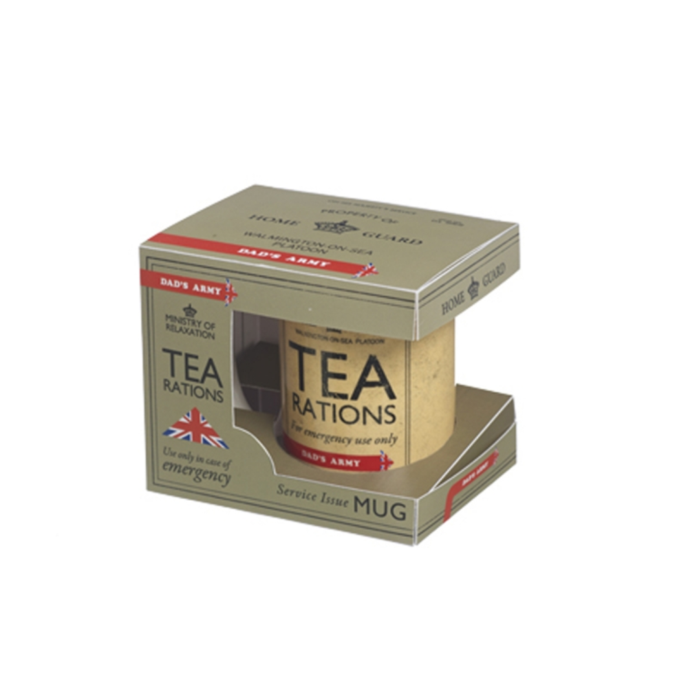 Dad's Army Tea Rations Ceramic Mug In Gift Box
