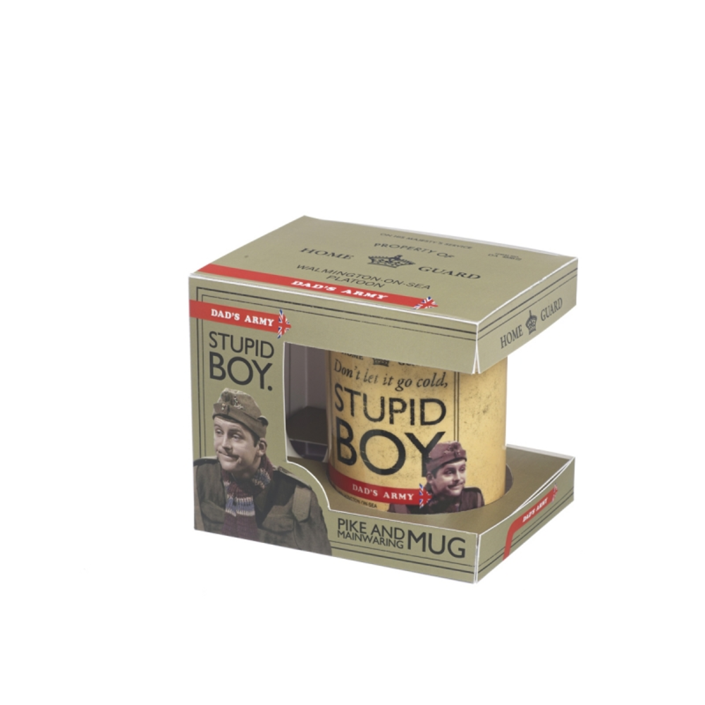 Dad's Army Pike Stupid Boy Ceramic Mug In Gift Box