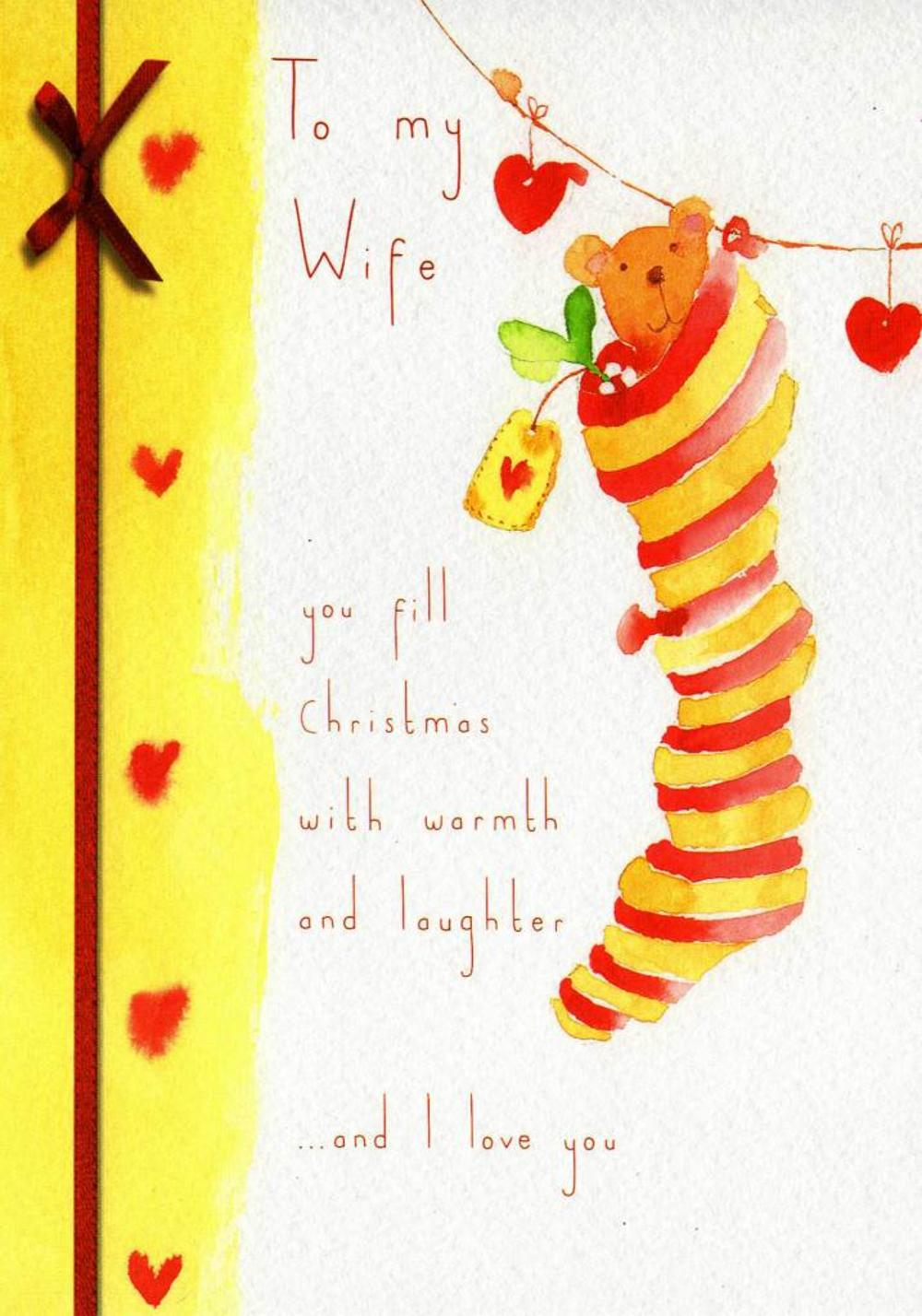 To My Wife Christmas Greeting Card
