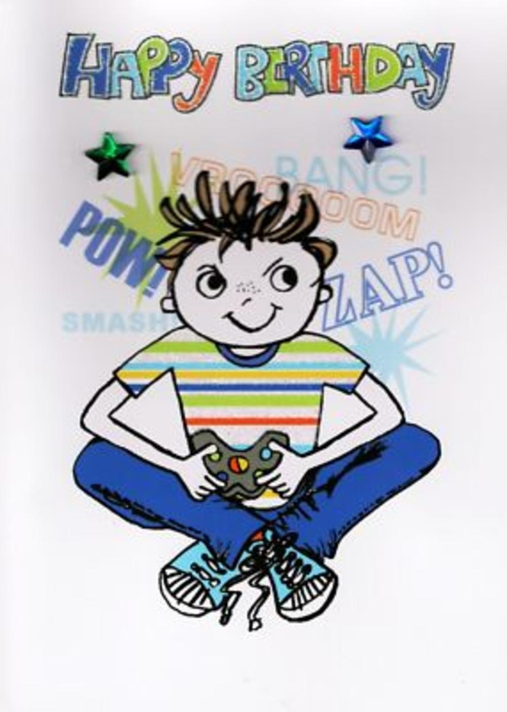 Kids Boys Birthday Card