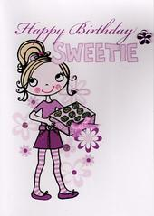 Kids Girls Sweetie Birthday Card