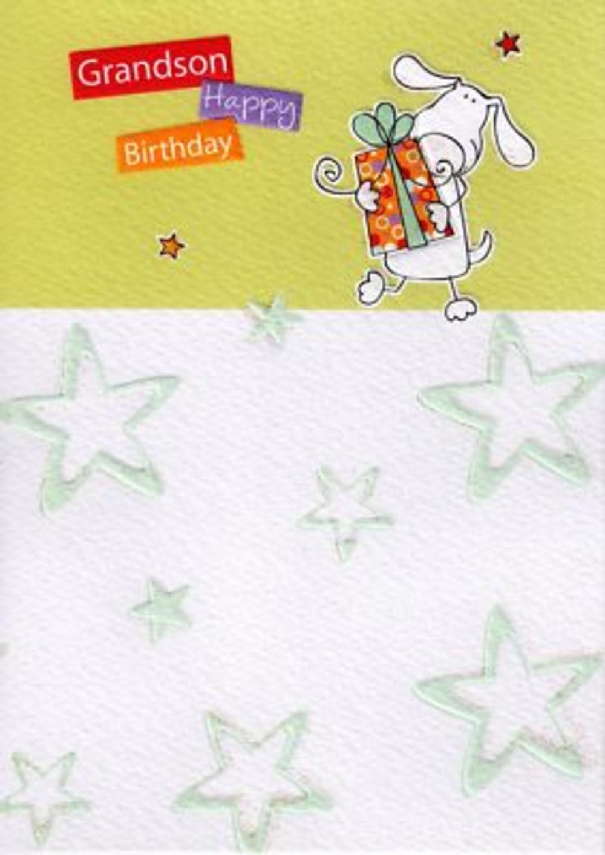 Grandson Great Value Birthday Card