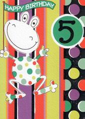 Great Value 5th Frog  Birthday Card