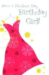 Quality Foiled Cards General Open Birthday Girl Card