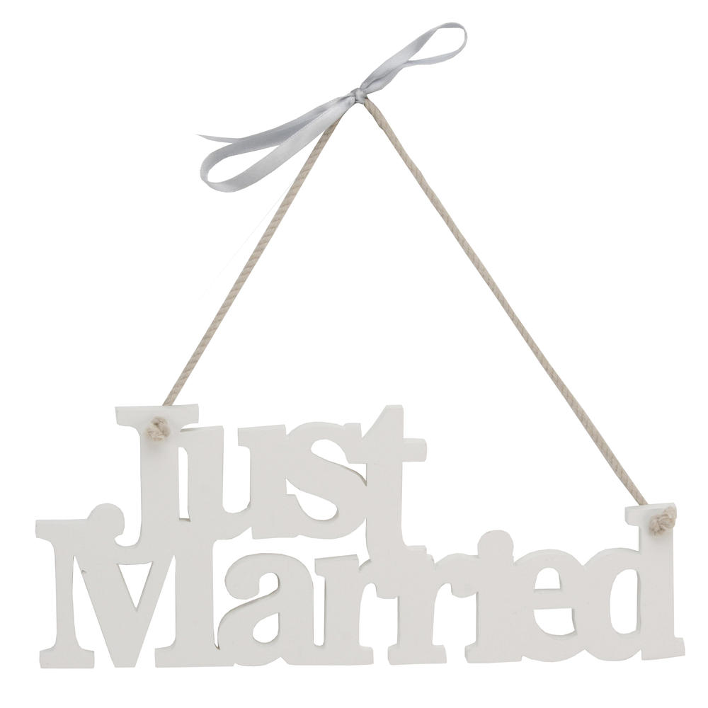 "Wedding Day 11"" Just Married Hanger Gift"
