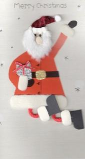 Handmade Father Christmas Christmas Card