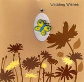 Handmade 3D Wedding Day Wishes Greeting Card