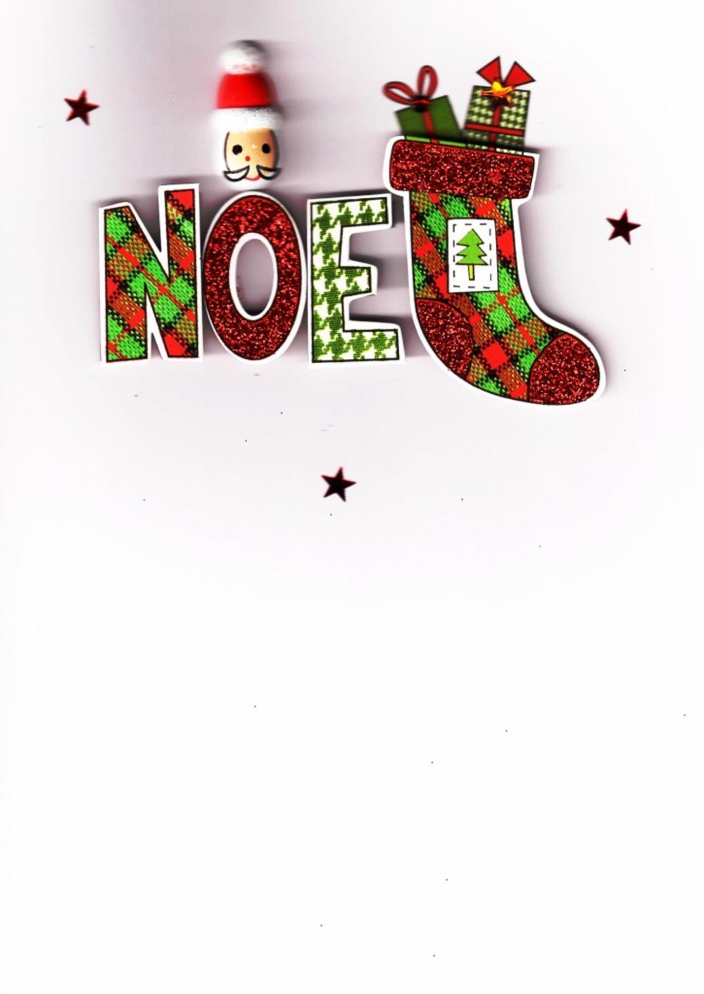 Noel Lovely Embellished Christmas Greeting Card