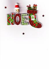 Noel Lovely Embellished Christmas Greeting Card